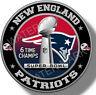 New England Patriots Super Bowl Championship Vinyl Sticker, NFL Decal 7 sizes