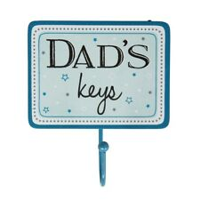 New Sass & Belle Blue White Best Dads Keys Fathers Gift Hook Coat Kitchen Hall