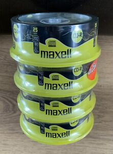 Maxell CD-R Cased Recordable Blank CDs - 4x25 Pack Unused In Original Packaging