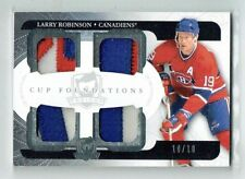 11-12 UD The Cup Foundations  Larry Robinson  10/10 Last Card   Patches  HOF