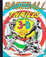 3-D ZONE 1990 -BASEBALL THRILLS -TRUE LIFE STORIES IN 3-D  by L.B. COLE..NM-