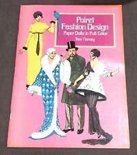 Vintage Paul Poiret Belle Epoque Fashion Design Paper Dolls Full Color Tierney