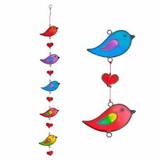 Colourful Bird Stained Glass Sun Catcher Mobile - Beautiful Window Hanging - Hom