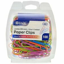 Jumbo 50mm Color Paper Clips 100pack
