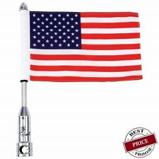 "Mo 00004000 torcycle Flagpole Mount and Usa Flag 6"" x 9"" With 13"" Flag Pole Mount"
