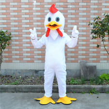 White Chicken Mascot Costume Cosplay Party Cock Clothing Dress Outfit Adult Size