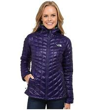THE NORTH FACE WOMENS THERMOBALL HOODIE HOODED JACKET PURPLE SIZE L NEW