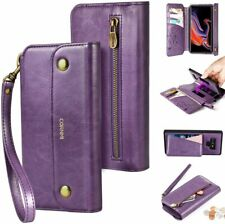 CORNMI Samaung Galaxy S9 Wallet Case Crossbody Wrist Strap Phone Case Purple NIB
