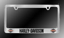 Harley-Davidson License Plate Frame HD Plate Holder Dual Bar & Shield Chrome NEW