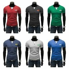 Herren-T-Shirts mit V-Ausschnitt und Stretch