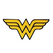 Wonder Woman Symbol Patch Superhero Costume Emblem DC Comics Iron-On Applique