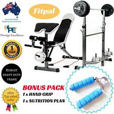 Multi Station Home Gym Weight Bench Press Leg Equipment Set Fitness Exercise