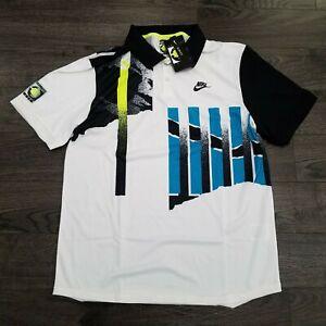 NIKE Challenge Court NikeCourt Advantage Tennis Polo Shirt Mens MEDIUM Agassi