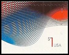 US 4953 One Dollar Patriotic Wave $1 single MNH 2015