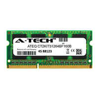 4GB DDR3 PC3-12800 SODIMM Crucial CT2KIT51264BF160B Equivalent Laptop Memory RAM