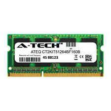 4GB DDR3 PC3-12800 SODIMM Crucial CT2KIT51264BF160B Equivalent Laptop Memory RAM
