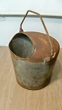 Vintage Superior Covered 5 GAL Milk Pail Or Bucket With Bail Handle Old Farm