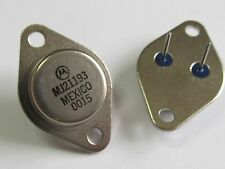 2 unidades-mj21193-pnp Power transistor 16a 250v 250w-motorola to3