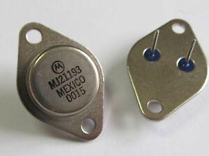 2 Stück - MJ21193 - PNP Power Transistor 16A 250V 250W - MOTOROLA TO3 - 2pcs