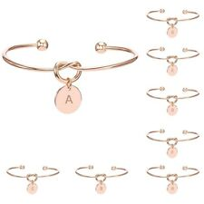 BUY 2 GET 1 FREE Creative Simple Initial Knot Bracelet Opening Bangle Jewelry