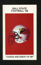 Ball State Cardinals--1988 Football Pocket Schedule--Lunsford Real Estate
