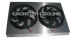"Pontiac Bonneville Aluminum Radiator Fan Shroud & 2-12"" Fans 17 x 26 1/4 162"