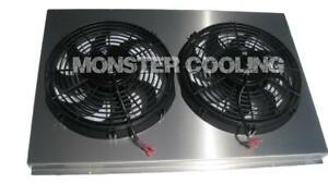 "Chevy Camaro Aluminum Radiator Fan Shroud & 2-12"" Fans -17 x 26 1/4 DPI 161"