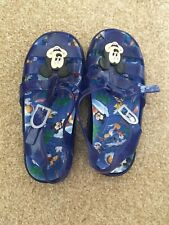Blue Mickey Mouse Jelly Shoes Sandals Size 12