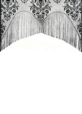 Halloween Party Gothic Black Lace Window Decoration