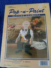 "1985 Wang's Pop-n-Paint ""Sitting Grandpa"" 5"" Sitting Figure #Cpw703"