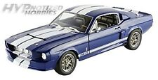 GREENLIGHT 1:18 1967 SHELBY GT-500 WITH WHITE STRIPES BUS DIE-CAST BLUE 12953
