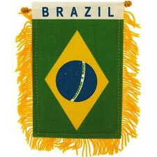 New listing Brazil Mini Banner Flag Great For Car & Home Window Mirror Hanging