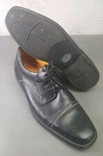 Sandro Moscoloni Men's sz 12 D Oxford Black Leather Casual Cap Toe Dress Shoes