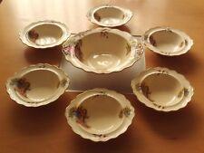 Vintage Crown Ducal Dessert Bowl Set. Lady and Gentleman Design.