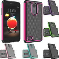 For LG Phoenix 4/LG Rebel 4 LTE Phone Case Heavy Duty Hybrid Rugged Rubber Cover