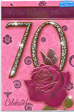 70th Tarjeta Cumpleaños Para Abuela. A Un Dear Abuela Con Amor 70 Celebración