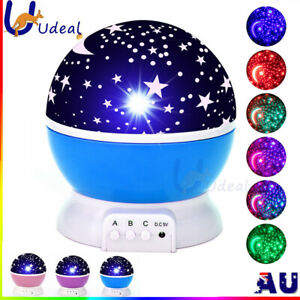 LED Night Star Sky Projector Light Lamp Rotating Starry Baby Room Kids Gift AU