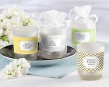 48 PERSONALIZED Frosted Glass Votive Candles Bridal Shower Wedding Favors