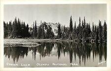 Vintage Real Photo PC; Cream Lake, Omlympic National Park WA Thompson