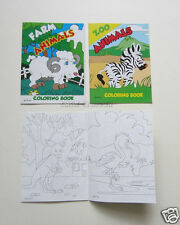 12 Farm & Zoo Animals Coloring Book Kid Party Goody Loot Bag Filler Favor Supply