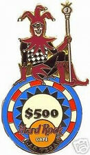 Hard Rock Cafe LAS VEGAS 1999 Joker $500 Poker Chip PIN Clasp -HRC Catalog #4524