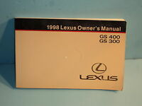 98 1998 Lexus GS 400/GS 300 owners manual