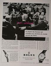 publicite ancienne de 1956 ROLEX MONTRE LES GRANDS HOMMES WATCH AD ADVERT PUB