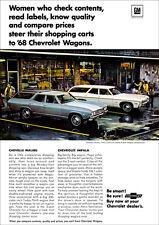 CHEVROLET CHEVELLE MALIBU & IMPALA WAGON RETRO A3 POSTER PRINT FROM ADVERT 1968