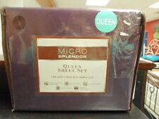 Micro Splendor Queen Size Set Bed Sheets NEW Purple Eggplant 6 Piece Set!