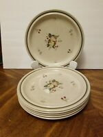 "Royal Doulton Cornwall Dinner Plates 10 1/2"" Double Ring  Set 6 England"