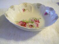 """Beautiful Germany 9"""" Scalloped Edge Floral Serving Bowl, Really Nice Condition"""