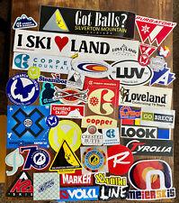 New listing Ski sticker lot. 40+ stickers. All Colorado ski areas and various ski companies