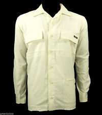 National Geographic Men Ivory Nylon Excursion Travel Shirt Size Medium $69