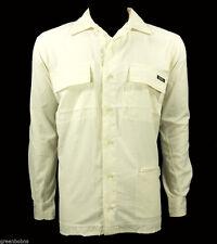 National Geographic Men Ivory Nylon Excursion Travel Shirt Size Medium
